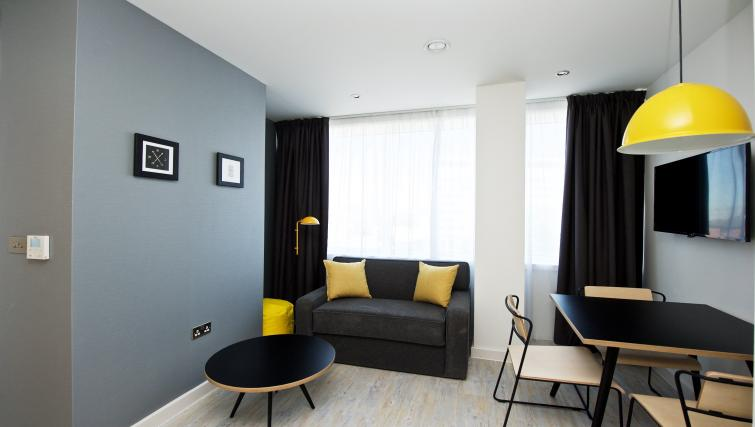 Living space at Staycity Manchester Piccadilly