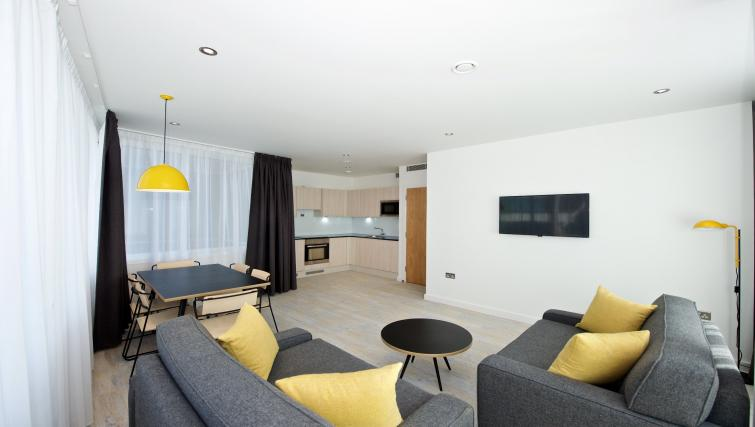 Living room in Staycity Manchester Piccadilly