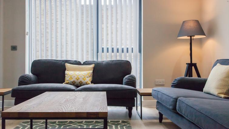 Comfortable lounge area at The Bellerby Apartments