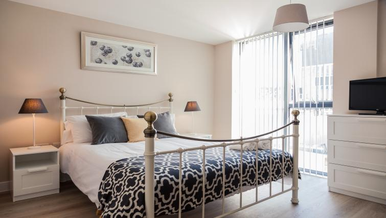 Cosy bedroom at The Bellerby Apartments