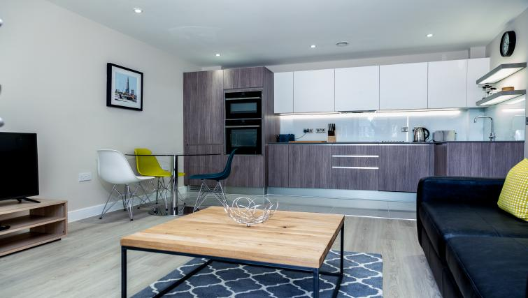Bright living space at The Bellerby Apartments