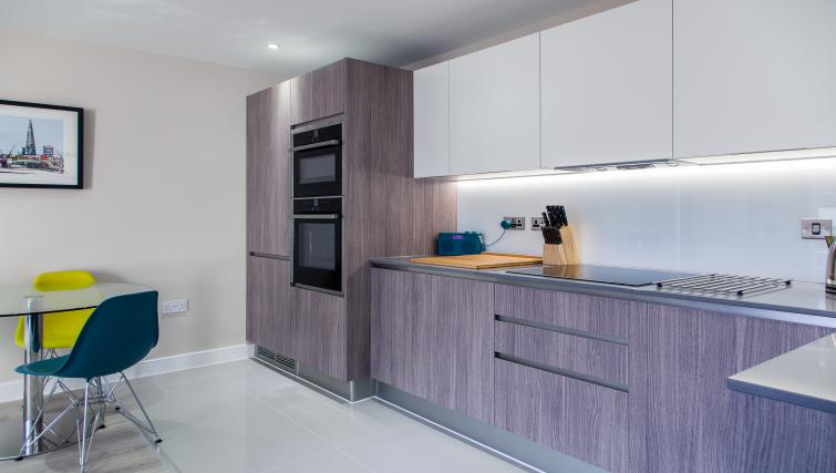 Modern kitchen at The Bellerby Apartments
