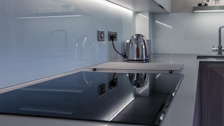 Equipped kitchen at The Bellerby Apartments