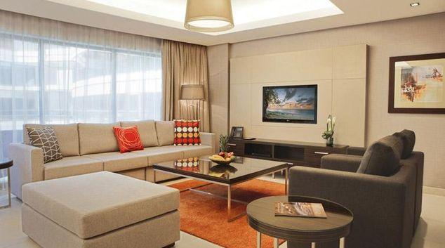 Living area at Kin Plaza Arjaan Apartments