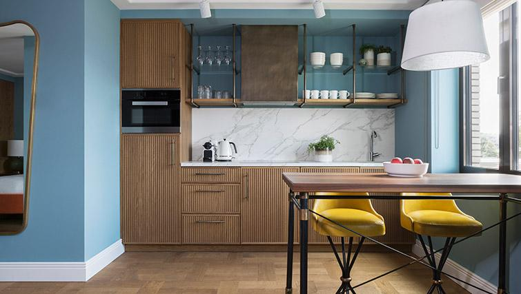 Fully equipped kitchen at Hotel Twenty Eight Apartments, Amsterdam