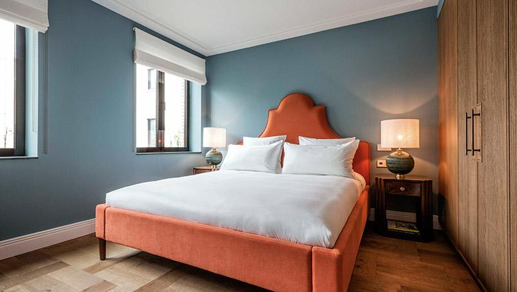 Double bed at Hotel Twenty Eight Apartments, Amsterdam