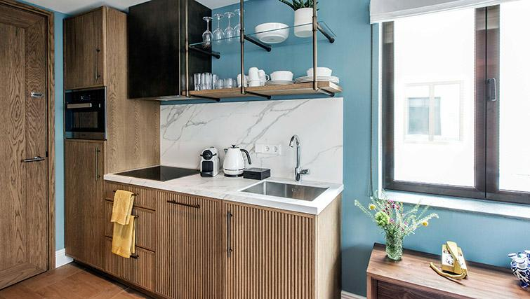 Kitchenette at Hotel Twenty Eight Apartments, Amsterdam