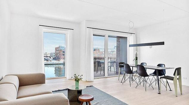 Living area at Stay Seaport Apartments