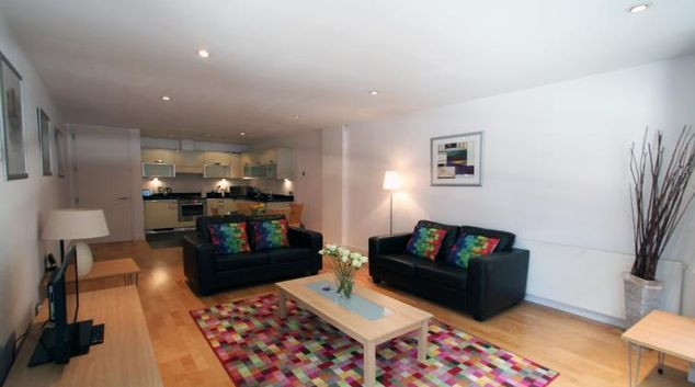 Living area at Saffron Hill