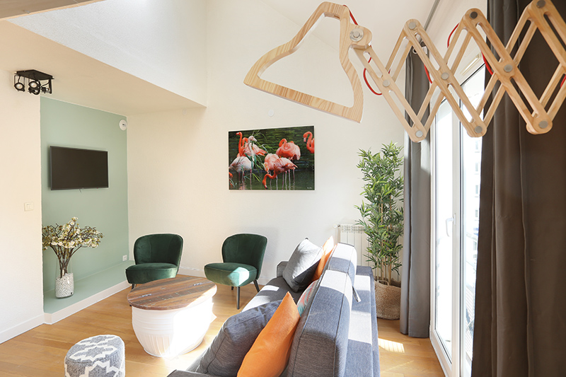 Living space at Residence Les Lilas Paris Apartment, Les Lilas, Paris