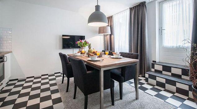 Dining area at Vondelgarden Apartments, Amsterdam