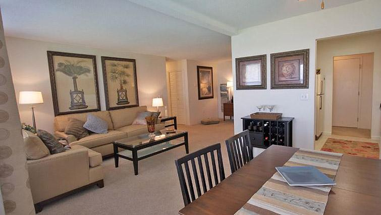 Living area at Boulder Park Apartment