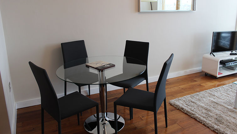 Dining area at The Dickens Apartment