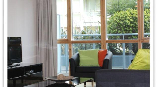 Living area at The Gasworks 5 Hibernian Apartments