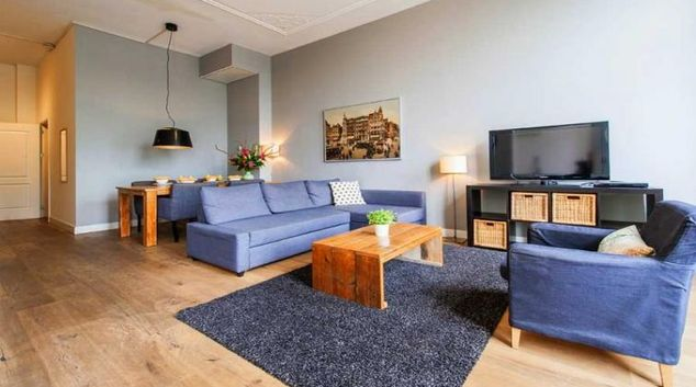 Living area at Arend Harbour Apartment, Amsterdam