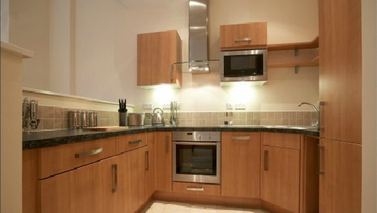 Compact kitchen in The Paramount Swindon Apartments