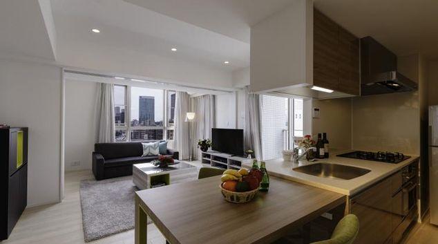 Gorgeous living area at Oakwood Apartments Minami Azabu Apartments