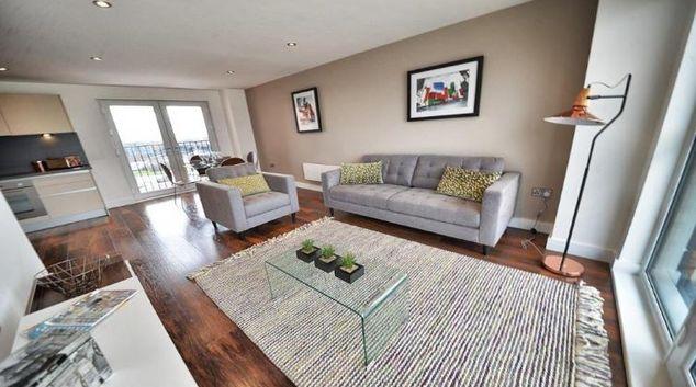 Stylish living area at Apartments at Wilburn