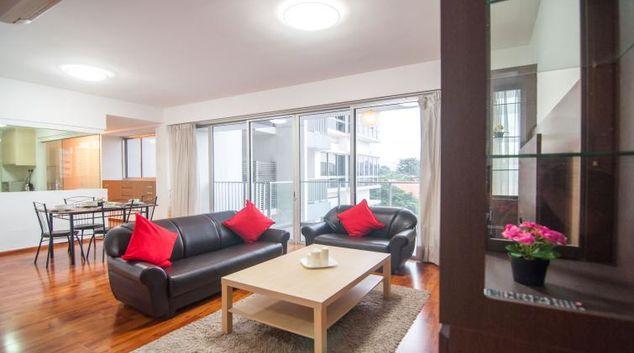 Living area at Clementi Condominium P Apartments, Singapore