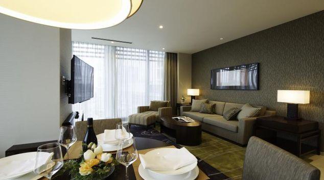Living area at Oakwood Premier Tokyo