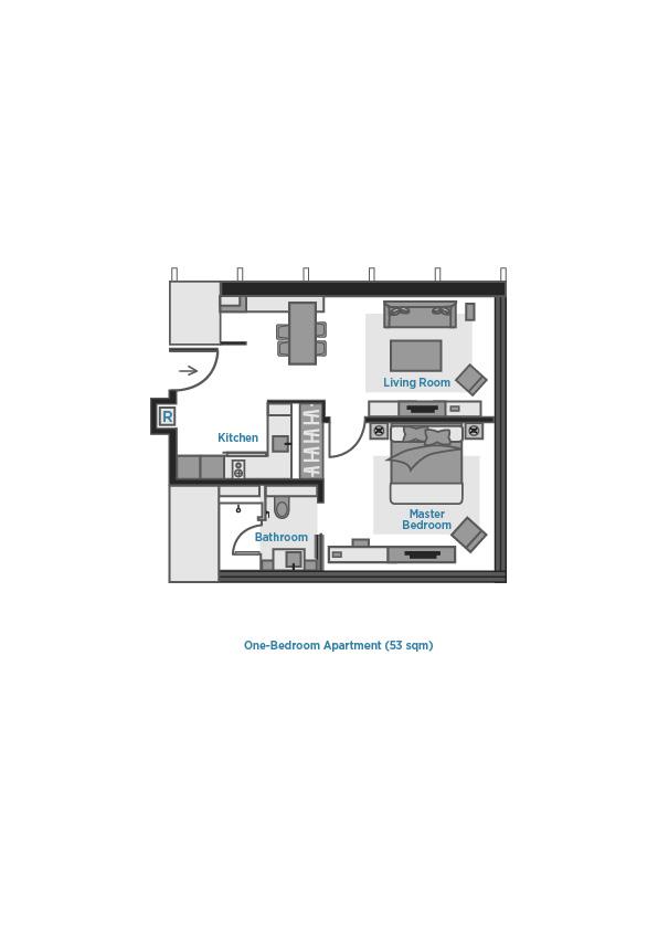 Floor plan 2 at Oakwood Premier OUE Singapore