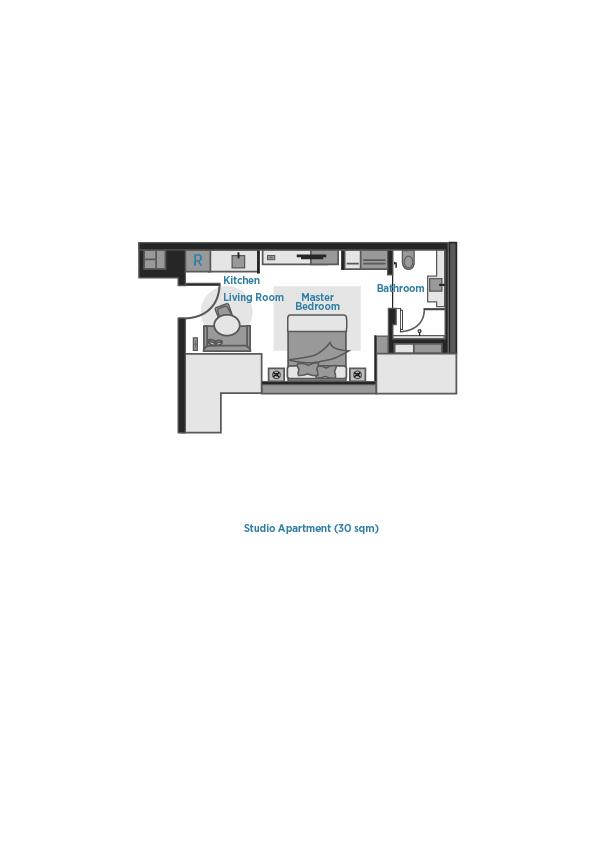 Floor plan 1 at Oakwood Premier OUE Singapore