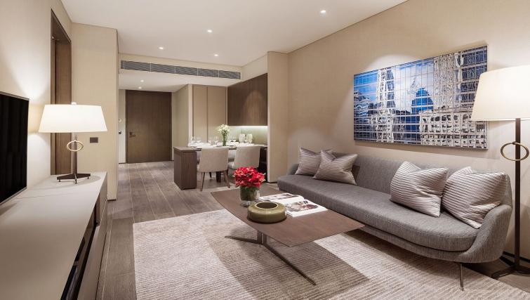 Living room at Oakwood Premier OUE Apartments, Singapore