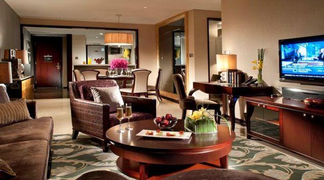 Stylish living area at Oakwood Premier Guangzhou
