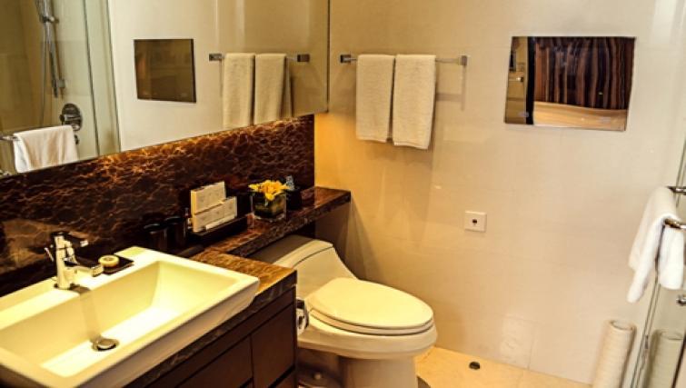 Ideal bathroom at Oakwood Premier Guangzhou