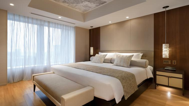 Bed at Ascott Marunouchi Apartments
