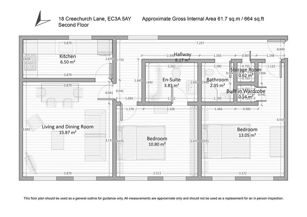 Floor plan at Creechurch Lane