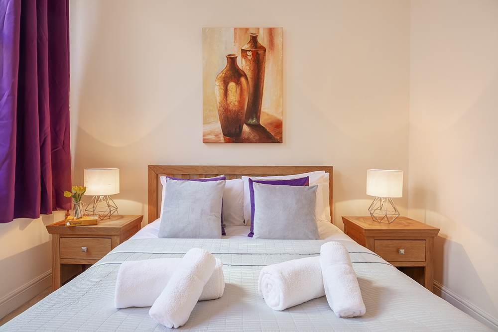 Double bed at Creechurch Lane